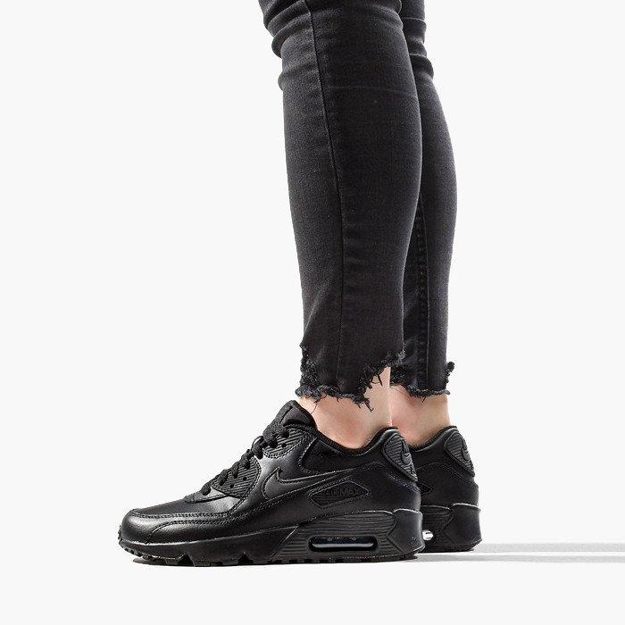 Nike Air Max 90 Leather (GS) 833412 001 | SCHWARZ | für 99