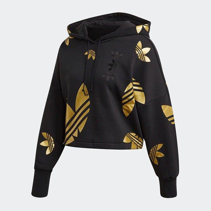 Bluza damska adidas Originals Large Logo Cropped Hoodie