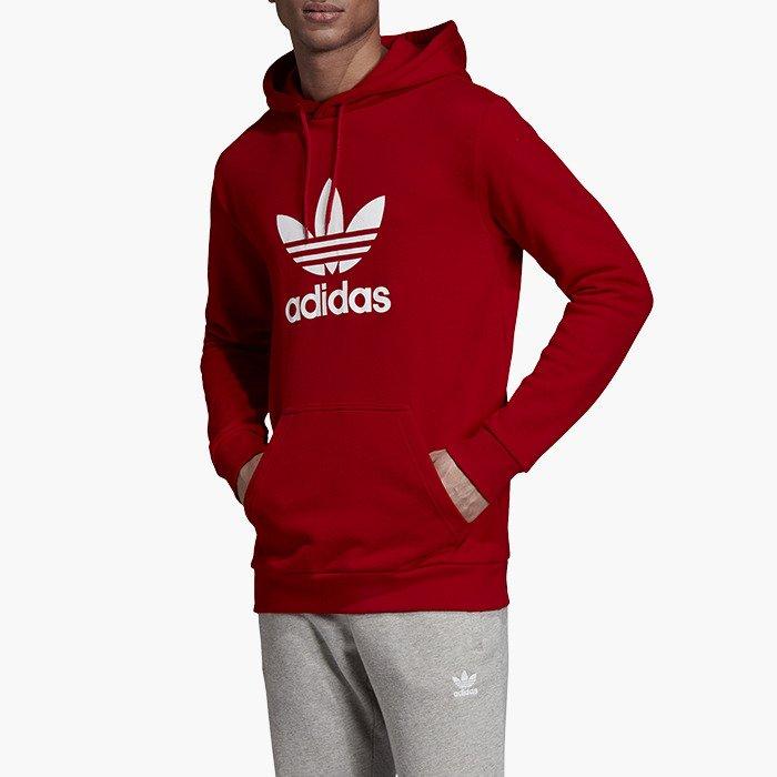 Adidas Originals Trefoil Kapuzenpullover rot