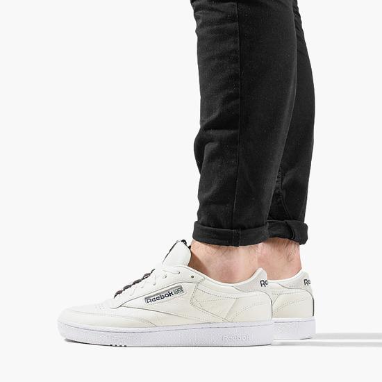 Reebok CLUB C 85 Herren Sneaker Weiß Schuhe, Größe:46