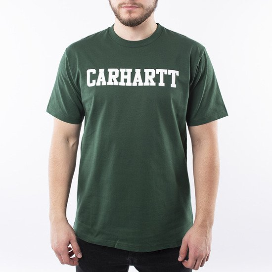 Carhartt WIP S/S College T-Shirt I024772 TREEHOUSE/WHITE