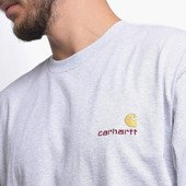 Long Sleeve Carhartt WIP American Script I025712 Ash Heather
